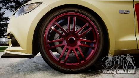 Ford Mustang GT 2015 Custom Kit red stripes for GTA 4 back view