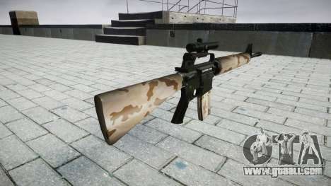 The M16A2 rifle [optical] sahara for GTA 4 second screenshot