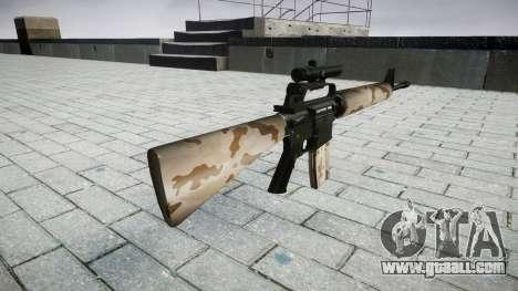 The M16A2 rifle [optical] sahara for GTA 4 second screenshot