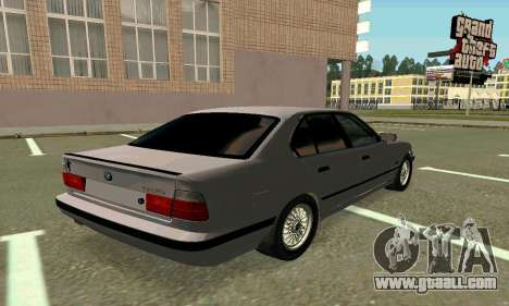 BMW 525 Turbo for GTA San Andreas back left view