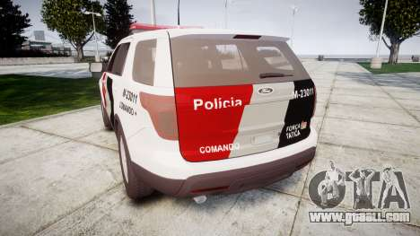 Ford Explorer 2013 Police Forca Tatica [ELS] for GTA 4