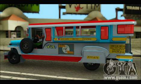 Jeepney Legacy for GTA San Andreas back view