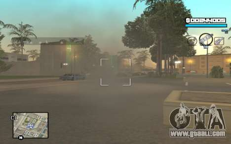 Blue C-HUD for GTA San Andreas