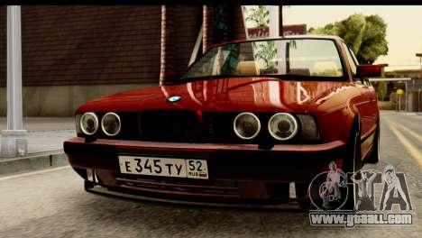 BMW 525i E34 for GTA San Andreas inner view