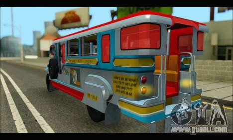 Jeepney Legacy for GTA San Andreas right view