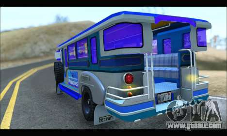 Light Jeepney for GTA San Andreas right view