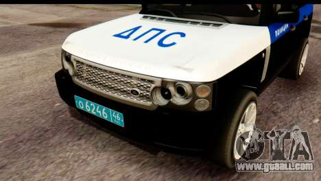 Land Rover ДПС for GTA San Andreas right view
