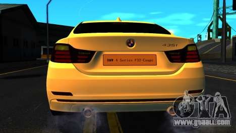 BMW 4-series F32 Coupe 2014 Vossen CV5 V1.0 for GTA San Andreas side view