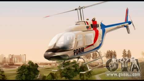 Malaysian Polis Helicopter Eurocopter Squirrel for GTA San Andreas
