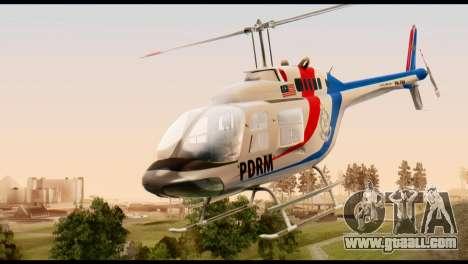 Malaysian Polis Helicopter Eurocopter Squirrel for GTA San Andreas