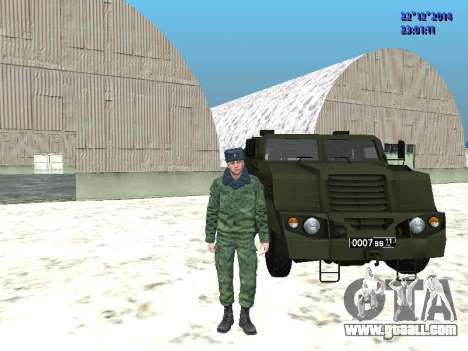 MIC-3924 Armored Bear for GTA San Andreas left view