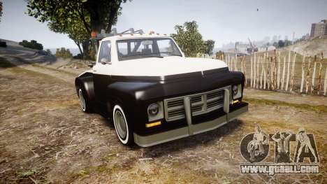 Vapid Towtruck Restored striped tires for GTA 4