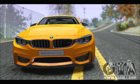 BMW M4 F80 Coupe 1.0 2014 for GTA San Andreas back left view