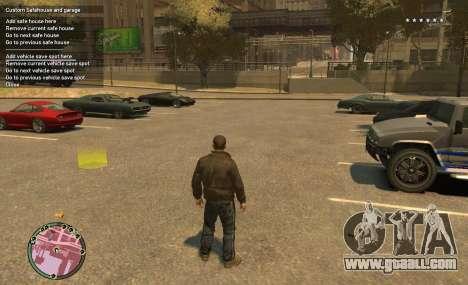 Custom Safehouse and Garage Script v1.1 for GTA 4 second screenshot
