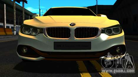 BMW 4-series F32 Coupe 2014 Vossen CV5 V1.0 for GTA San Andreas inner view