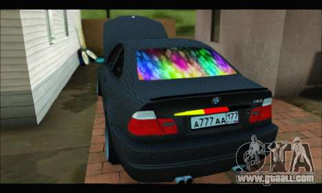 BMW M3 E46 Carbon for GTA San Andreas back left view
