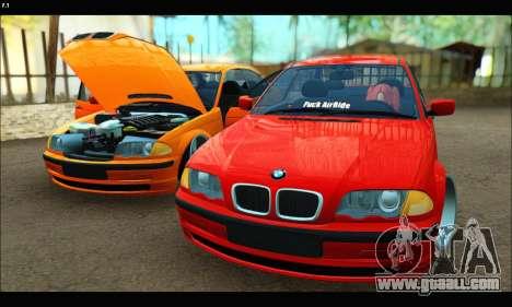 BMW e46 Sedan for GTA San Andreas side view