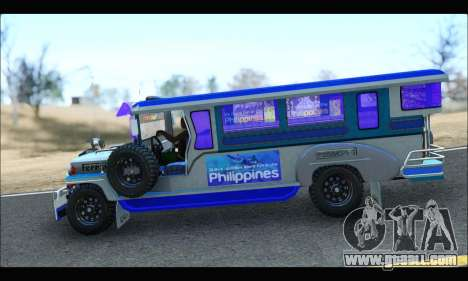Light Jeepney for GTA San Andreas back left view