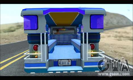 Light Jeepney for GTA San Andreas back view