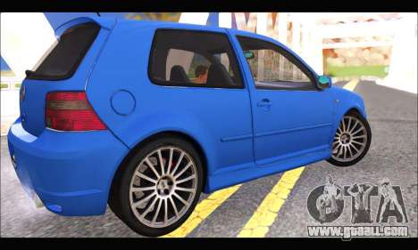 VW Golf R32 - Stock for GTA San Andreas back left view