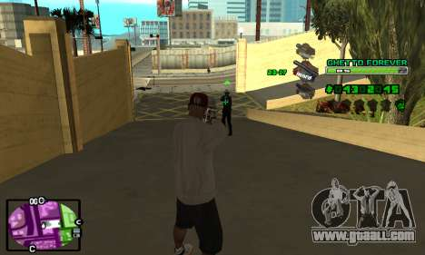 C-HUD Ghetto 4ever for GTA San Andreas third screenshot