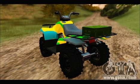 ATV Color Camo Army Edition for GTA San Andreas left view