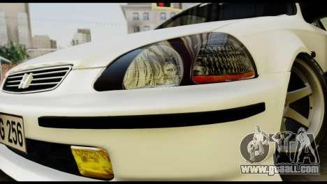 Honda Civic 1.4 Mehmet ALAN for GTA San Andreas back view