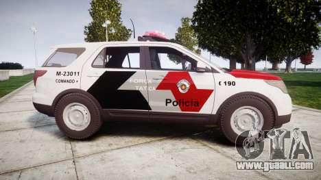 Ford Explorer 2013 Police Forca Tatica [ELS] for GTA 4 left view