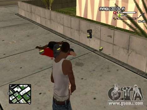CLEO HUD by SampHack v.20 for GTA San Andreas second screenshot