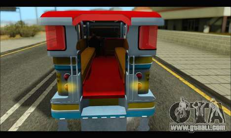 Jeepney Legacy for GTA San Andreas back left view