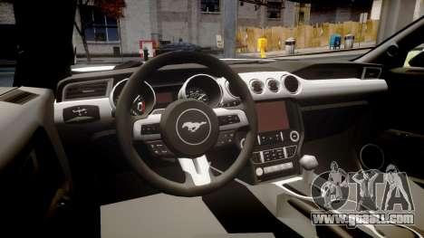 Ford Mustang GT 2015 Custom Kit black stripes gt for GTA 4 inner view