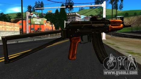 Bright AKS-74U v1 for GTA San Andreas second screenshot