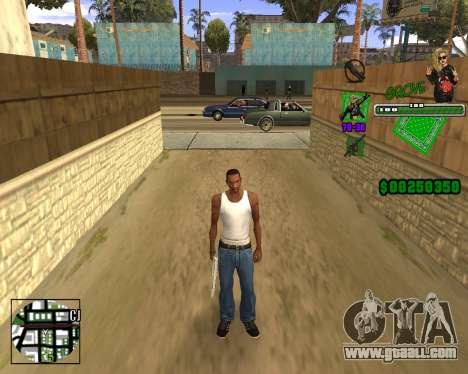 C-HUD Grove St. for GTA San Andreas