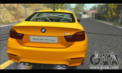 BMW M4 F80 Coupe 1.0 2014 for GTA San Andreas right view