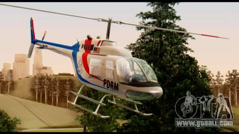 Malaysian Polis Helicopter Eurocopter Squirrel for GTA San Andreas right view