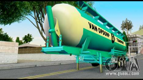 Mercedes-Benz Actros Trailer VAN OPDORP for GTA San Andreas back view