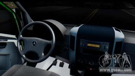 Mercedes-Benz Sprinter PrivatBank for GTA San Andreas back view