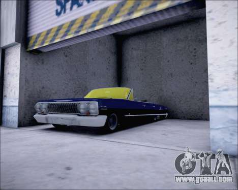 Chevrolet Impala 1963 for GTA San Andreas back left view