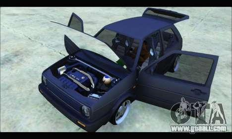 VW Golf MK2 for GTA San Andreas right view
