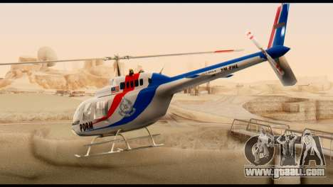 Malaysian Polis Helicopter Eurocopter Squirrel for GTA San Andreas left view