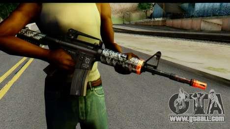 Kill Em All M4 for GTA San Andreas third screenshot