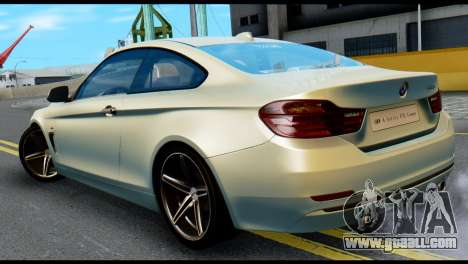 BMW 4-series F32 Coupe 2014 Vossen CV5 V1.0 for GTA San Andreas left view