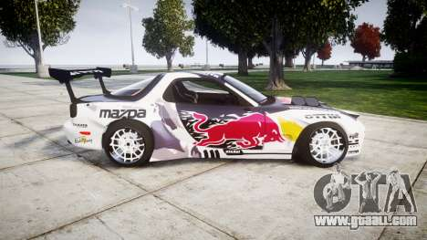Mazda RX-7 Rocket Bunny MadMake for GTA 4 left view