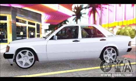Mercedes Bad-Benz 190E (34 DDK 82) for GTA San Andreas back left view