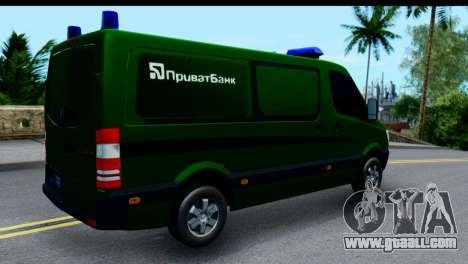 Mercedes-Benz Sprinter PrivatBank for GTA San Andreas back left view
