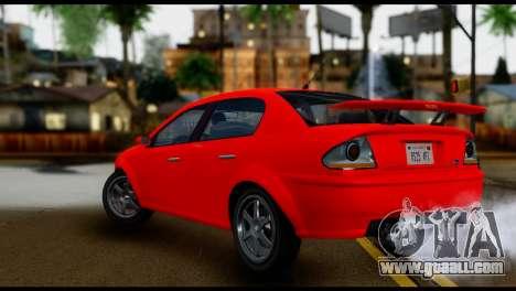 DeClasse Premier from GTA 5 IVF for GTA San Andreas left view