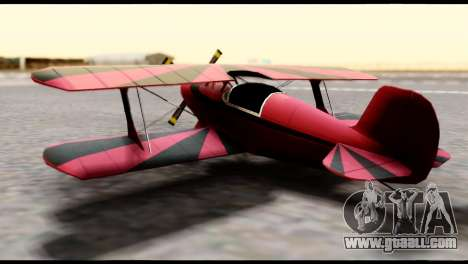 Beta Stuntplane for GTA San Andreas back left view