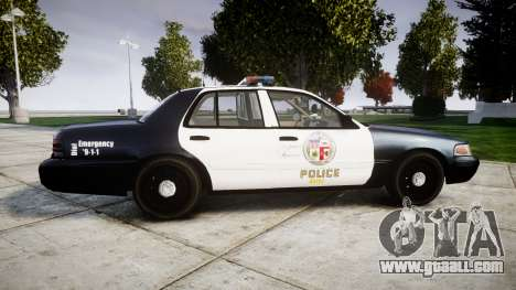 Ford Crown Victoria LAPD [ELS] for GTA 4 left view