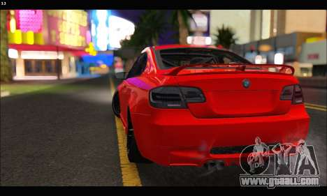 BMW M3 GTS 2010 for GTA San Andreas