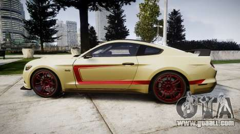 Ford Mustang GT 2015 Custom Kit red stripes for GTA 4 left view